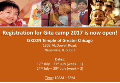 Childern's Bhagavad Gita Camp 2017
